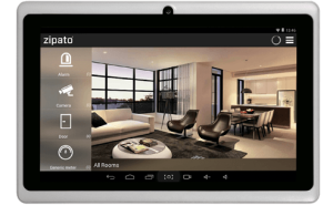 Allows to check your home automation system from a tablet